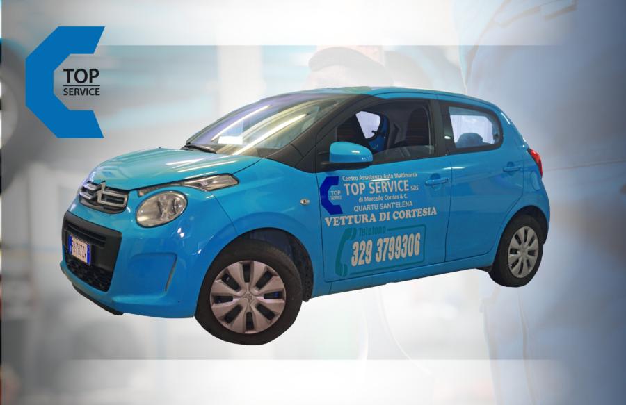 Auto di CPorta la tua auto da TOP SERVICE per assistenza, Vettura Sostitutiva Gratis!ortesia Gratis - Top Service