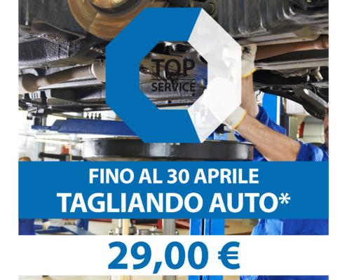 Tagliando Auto* a 29,00€ fino al 30 Aprile da TopService a Quartu Sant'Elena