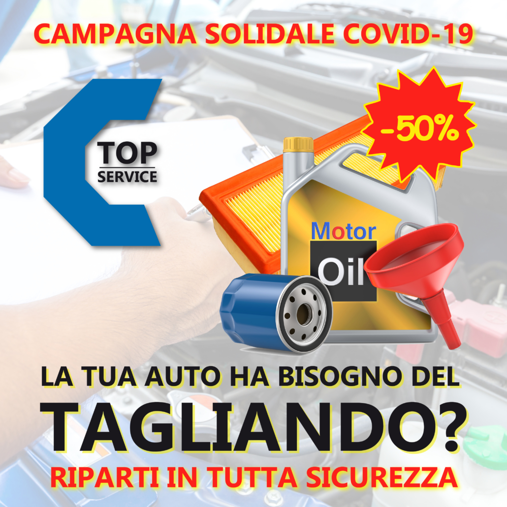 Tagliando auto al 50% di SCONTO!! Riparti dalla FASE 2 in sicurezza! | TOP SERVICE SAS a Quartu Sant'Elenaok